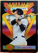 2020 Topps Baseball Finest Flashbacks DJ LeMAHIEU Yankees BLACK REFRACTOR SP /25