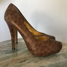 Ted Baker Animal Print Brown Pump Size US 9.5 EUR 41 Leather Career