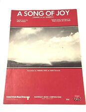 "Vintage ""A Song Of Joy"" Sheet Music Dated 1970 (Himno A La Alegria)"