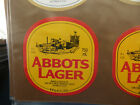 VINTAGE AUSTRALIAN BEER LABEL. CARLTON & UNITED - ABBOTS LAGER 750ML 23A