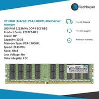 HP 32GB (1*32GB) 4RX4 PC4-17000P-L DDR4-2133MHZ MEMORY KIT - 726722-B21