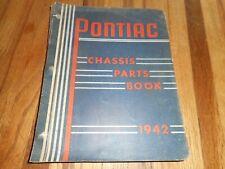 Vintage GM General Motors PONTIAC 1942 CHASSIS Parts Shop Manual Book Catalog