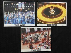 "ORIGINAL 1978 ""THE WIZ"" SET OF 3 COLOR 8X10 PHOTOGRAPHS Michael Jackson"