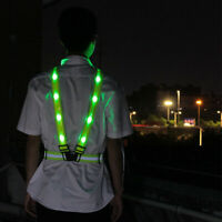 LED Licht Safe Weste Gürtel Nacht laufen Radfahren Aktivität Grün Glanz Gurt N