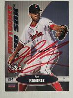 2015 Choice Pawtucket Red Sox Noe Ramirez Autograph Card Angels Signed, Auto