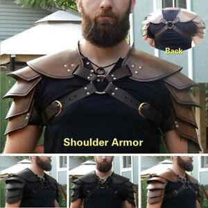 Medieval Shoulder Armor Gladiator Samurai Battle Knight Pauldrons Viking Costume