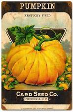 Kentucky Field Pumpkin Card Seed Co Metal Sign Farm Garden Home Wall Decor PTS42