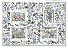 """BLOC 2014 """"SALON DU TIMBRE 2014"""" - Oblitération 1er Jour ** 4 Timbres-Y&T N°135"""