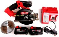 "Milwaukee FUEL 2782-20 5 3/8"" Metal Saw,  (2) 48-11-1850 Batteries, Charger 18V"