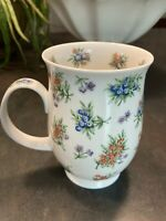 Vintage Dunoon Fine Bone China Cup 'Pompadour' Jane Fern Floral Made in England