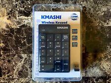 KMASHI Wireless USB Number Keypad Keyboard Number Pad (Black)