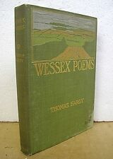 Wessex Poems & Other Verses by Thomas Hardy 1899 Hardcover First Edition