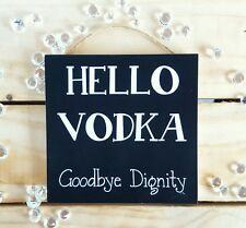 Handmade christmas plaques signs presents gifts birthday drink funny alcohol