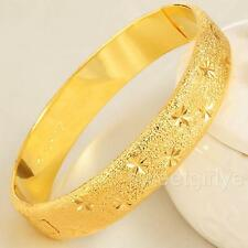 Womens Carved Bangle 24k Gold Filled Bracelet Jewelry