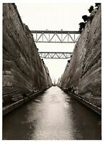 Corinth Canal Greece RPPC Postcard 4 x 6