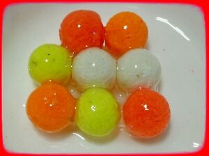 8mm MIXED COLOUR POP-UPS BOILIES. UNFLAVOURED OR FLAVOURED & WITH DIP/GLUG