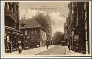 KIEL tolle AK ~1910/20 Dänische Str. Geschäfte Personen alte Ansichtskarte