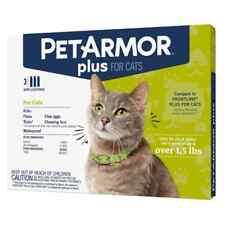 2 packs Petarmor Plus Flea & Tick Prevention for Cats 3 treatments ea pack