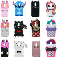 3D Cartoon Soft Silicone Cover Case For LG Stylo 4 + 3 Tribute Dynasty Aristo 3