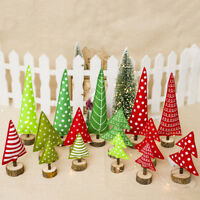 EE_ EG_ Christmas Tree Stripe Dot Wooden Home Party Decoration Ornament Kids Toy