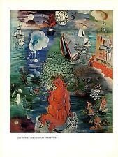"""1970 Vintage RAOUL DUFY """"AMPHITRITE"""" COLOR offset Lithograph"""