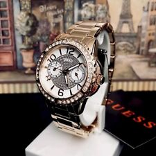 AUTHENTIC GUESS LADIES' SASSY WATCH ROSE GOLD TONE RRP:$399 U0705L3 Brand New