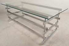 Contemporary Modern Chrome and Glass Coffee Table (5418)NJ