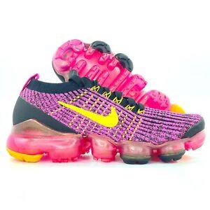 Nike W Air Vapormax Flyknit 3 Laser Fuchsia Pink Orange AJ6910-600 Women's 8.5