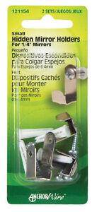 Hillman AnchorWire Steel Hidden Mirror Holder Wall Hanger Picture 2pk 121154