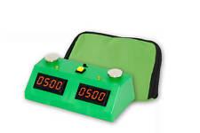 ZMart Fun II Digital Chess Clock - GREEN/GREEN with Wedge Bag