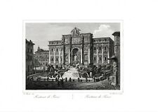✒ 1825 ITALIE ROME Fontana di Trevi Fontaine de Trévi