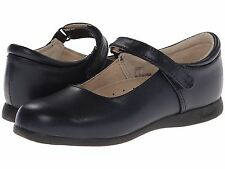 Navy Blue LEATHER MaryJanes School Shoes FootMates  Girls Size 12 1/2 M/W