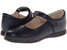 Navy Blue LEATHER MaryJanes School Shoes FootMates  Girls Size 12 1/2 M/W