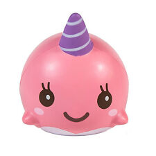 Pink 10CM Slow Rising Cartoon Squishy Whale Millie Squeeze Soft Strap Toy