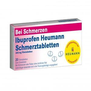 IBUPROFEN Heumann Schmerztabletten 400 mg 20 St PZN 40554