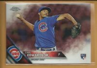 Carl Edwards Jr. RC 2016 Topps Chrome Rookie Card #85 Chicago Cubs Baseball