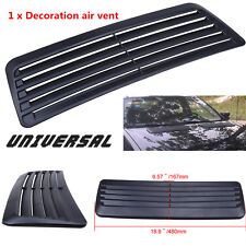 1pc Car Decorative Air Flow Intake Scoop Turbo Bonnet Vent Cover Hood Universal