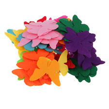 100x Butterfly Shape Non-woven Felt Pieces Embellishment for DIY Crafts #2
