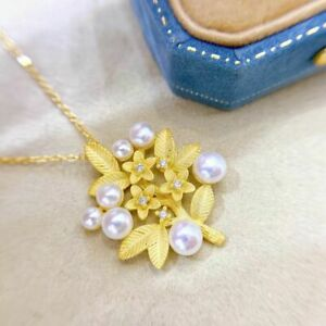 elegant  2-3mm south sea white pearl pendant 925s(mj)