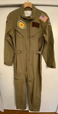 MAVERICK TOP GUN FLIGHT SUIT AVIATOR MILITARY COVERALLS Halloween Costume
