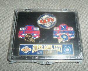 NFL New York Giants Baltimore Ravens Super Bowl XXXV Pin Set Limited Edition New