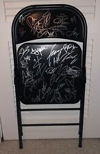 WWE SIGNED STEEL CHAIR 30+ AUTOGRAPHS BIG SHOW BRAY WYATT SHEAMUS HARDY BOYZ JBL
