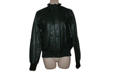 Ladies Green Zara Basics PU Jacket Size L UK 12-14 Wet Look