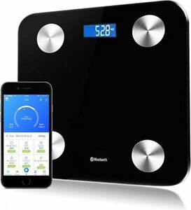 180KG BLUETOOTH BATHROOM GLASS SCALES BODY FAT BMI MONITOR WEIGHING ANDROID iOS