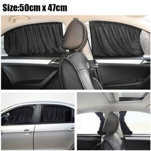 4* Foldable Car Window Sun Shade Cover Mesh Shield UV Protection Car Accessories
