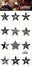 Temporary Tattoo Stars Body Art Removable HM765