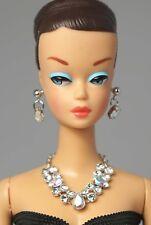 Barbie Doll Vintage FR Silkstone Clear Pearl Necklace Earrings Jewelry NE2172