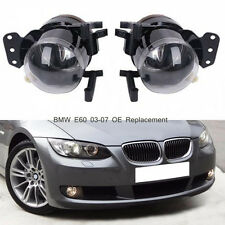 Pair For BMW E60 E90 E46 03-07 OE Replacement Clear Lens Fog Lights Lamp Housing