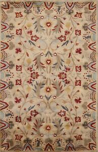 Floral Agra Traditional Oriental Area Rug Hand-Tufted Living Room Wool 5x8 ft