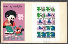 BLOK KINDERZEGELS 1968 FDC (Tekening) AMERSFOORT.2.-12.XI.1968              104L